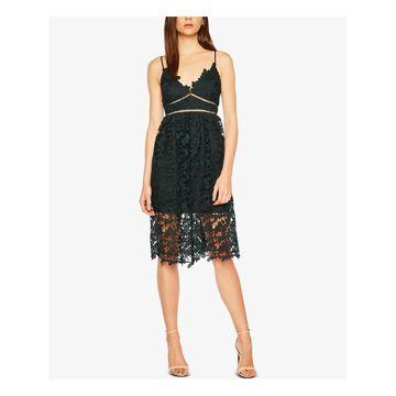 BARDOT Womens Green Lace V Neck Knee Length Party Dress Size 6/S - 6\S
