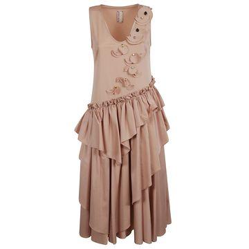 Antonio Marras Ruffled Sleeveless Dress