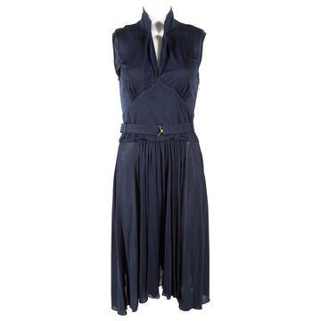 Rochas Navy Viscose Dresses