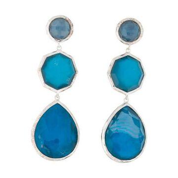 Quartz & Mother of Pearl Wonderland Crazy 8's Earrings silver