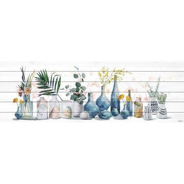 Parvez Taj All the Vases White Wood Wall Art