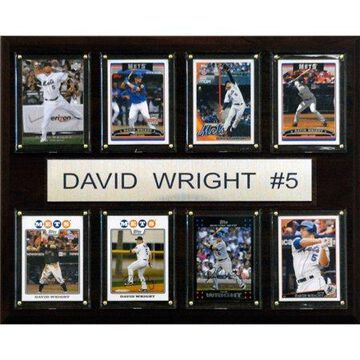 C&I Collectables MLB 12x15 David Wright New York Mets 8-Card Plaque