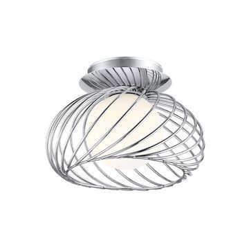 Eglo Thebe 1-Light 7 inch Chrome Wall Light