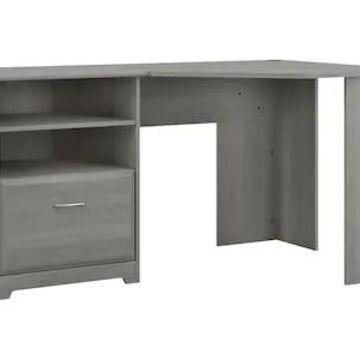 Bush Furniture Cabot 60 Corner Desk, Modern Gray (WC31315-03K), Grey | Quill