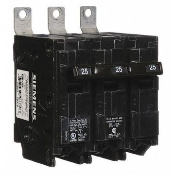 Miniature Circuit Breaker, 25 A, 240V AC, 3 Pole, Bolt On Mounting Style, BL Series