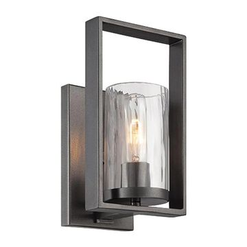 Designers Fountain Elements 6-in W 1-Light Charcoal Transitional Wall Sconce | 86501-CHA