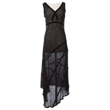 John Galliano Black Wool Dresses