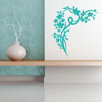 Blossom Corner Wall Decal Vinyl Art Home Decor