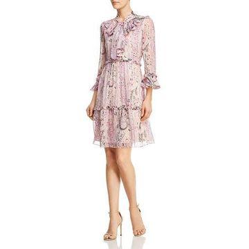 Kobi Halperin Womens Silk Ruffled Casual Dress
