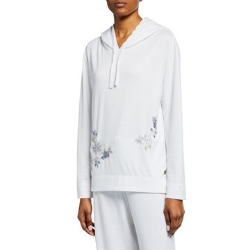 Zen Floral-Embroidered Hoodie