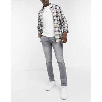 Jack & Jones Intelligence Glenn slim tapered jeans in gray-Grey