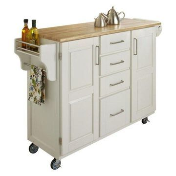 Home Styles Kitchen Cart in White