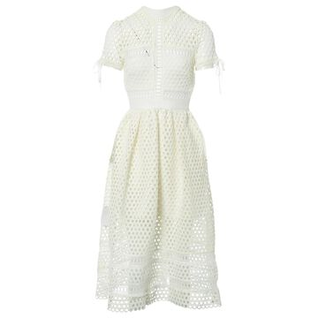 Self Portrait White Polyester Dresses