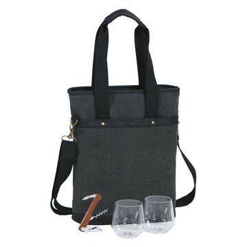 Omega Double Bottle Bag, Grey