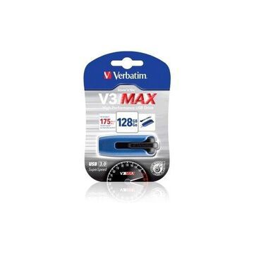 128GB Store 'n' Go V3 MAX USB 3.0 Drive - Black/Blue