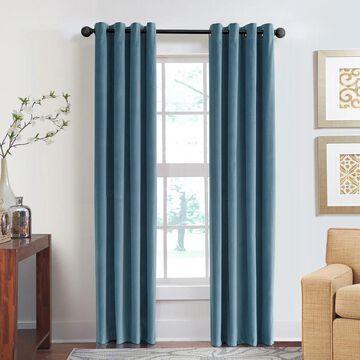 Veratex Cotton Velvet Soft Luxury Grommet Single Curtain Panel