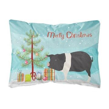 Hampshire Pig Christmas Canvas Fabric Decorative Pillow