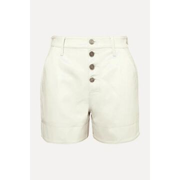 RtA - Dash Leather Shorts - Cream
