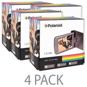 4 Pack Polaroid ID1440 14MP 4x Zoom HD 1080p Camcorder with 2.7