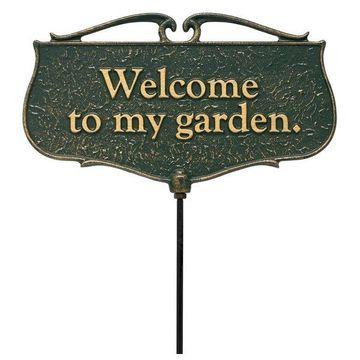 Welcome To My Garden, Garden Sign