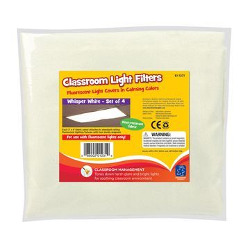 Educational Insights Classroom Light Filters, Whisper White