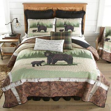 Donna Sharp Birch Bear Bedding Collection Quilt, Queen