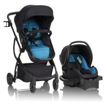 Evenflo Urbini Omni Plus Travel System with LiteMax Infant Car Seat, Fjord Blue