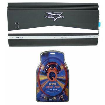 Lanzar VCT2610 6000W 2 Channel Amp Car Power Amplifier + 4 Gauge Wiring Kit
