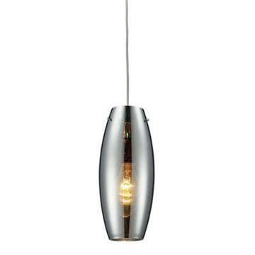 Elk Lighting Menlow Park 1-Light Pendant In Polished Chrome