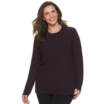 Plus Size Napa Valley Cable Pullover Sweater