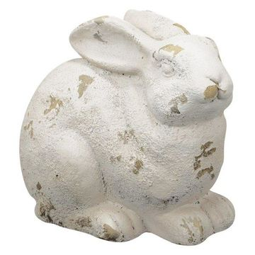 A&B Home French Chic Garden Magnesia Sitting Rabbit Decor