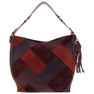 The Sak Womens Silverlake Leather Patchwork Hobo Handbag