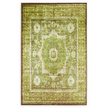 Unique Loom Istanbul Lygos 5' x 8' Powerloomed Area Rug in Light Green