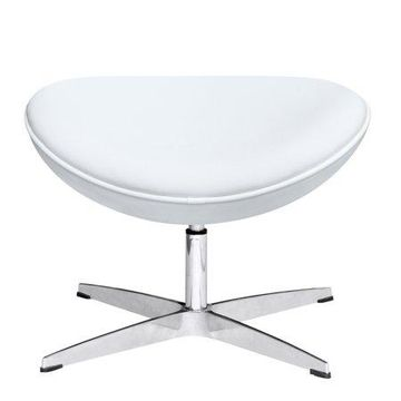 Fine Mod Imports Inner Ottoman Leather, White
