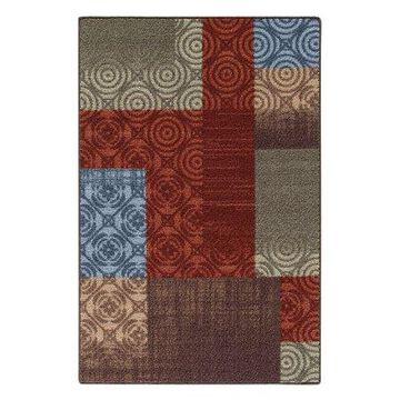 Mainstays Payton Multicolor Nylon Loop Pile Print Area Rug or Runner