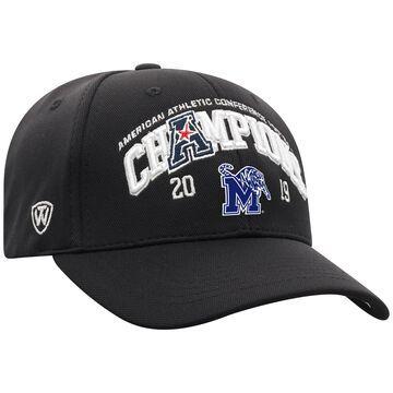 Men's Top of the World Black Memphis Tigers 2019 AAC Football Champions Locker Room Adjustable Hat