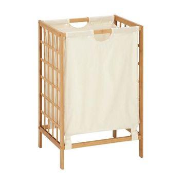 Honey-Can-Do Bamboo Grid Frame Hamper