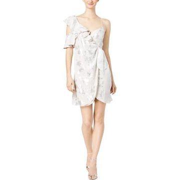 Bardot Womens Printed Wrap Clubwear Dress