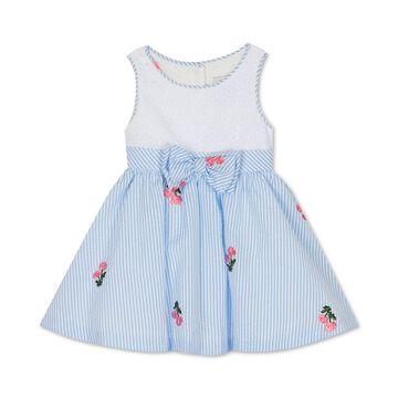 Baby Girls Eyelet Seersucker Dress