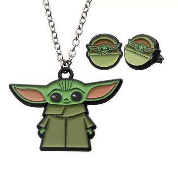 Star Wars The Mandalorian The Child Earring & Necklace Set