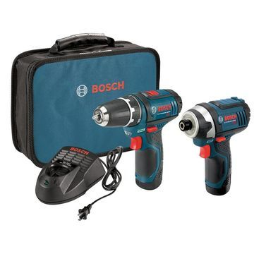 Bosch 2-Tool 12-Volt Max Power Tool Combo Kit with Soft Case (Charger Included and 2-Batteries Included)