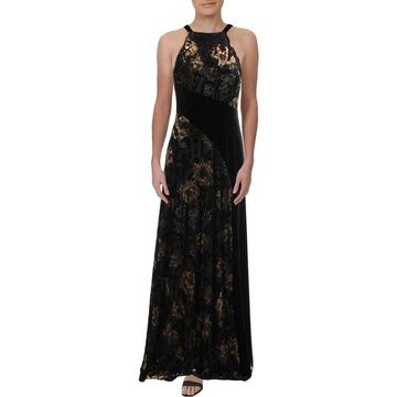 Aidan Mattox Womens Maxi Dress Velvet Burnout
