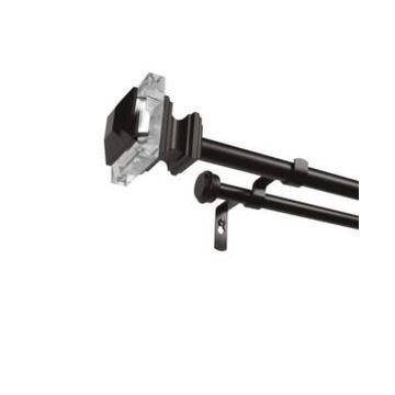 Exclusive Home Prism Double Curtain Rod and Finial Set, 66