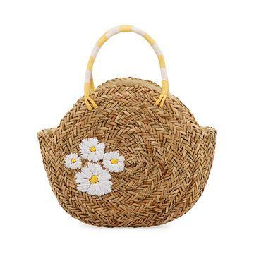 Woven Circular Tote Bag