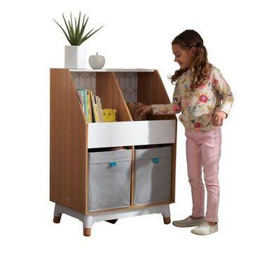 Mid-Century Kids' Bin Storage Unit