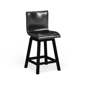 Furniture of America Hace Contemporary Black Counter Chairs (Set of 2)