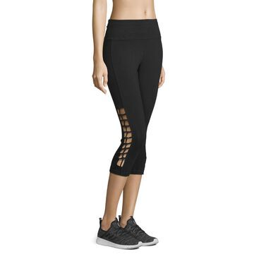 Xersion Mid Rise Macrame Workout Capris