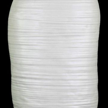 Jansen Ceramic Vase, White, Large