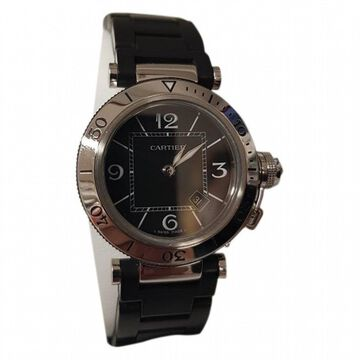 Cartier Pasha Seatimer Black Steel Watches
