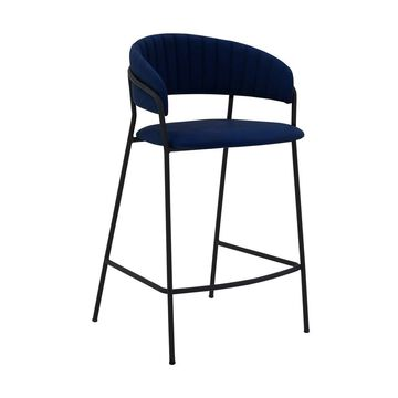 """26"""" Nara Faux Leather and Metal Finish Counter Height Barstool - Armen Living"""